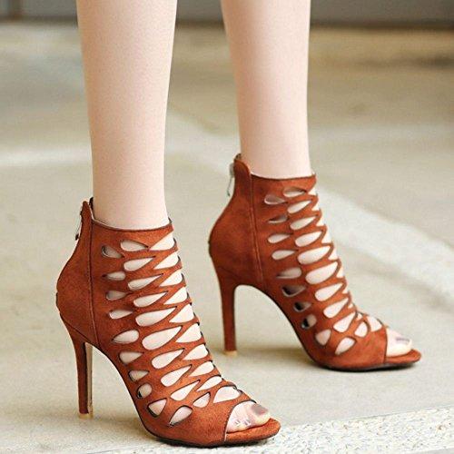 Peep Taoffen Brown Toe Femmes Sandales q5xTOn5