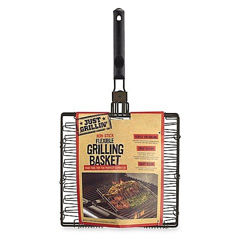Just Grillin Nonstick Flexible/Expandable Grilling Basket, BRONZE