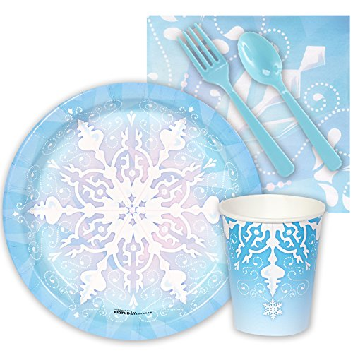 BirthdayExpress Snowflake Winter Wonderland Christmas Party Supplies - Snack Party Pack -