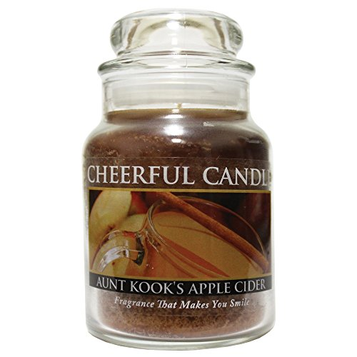 - A Cheerful Giver Aunt Kook's Apple Cider Jar Candle, 6-Ounce