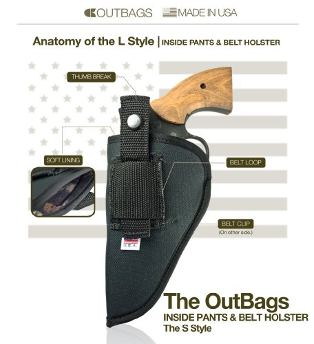 Outbags OB-29L (LEFT) Nylon IWB Conceal & OWB Open Combo