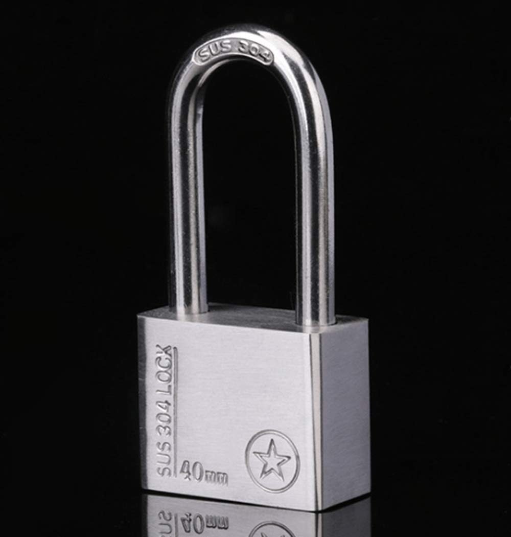 Amazon.com: 40mm Long Beam Stainless Steel Safety Padlock ...