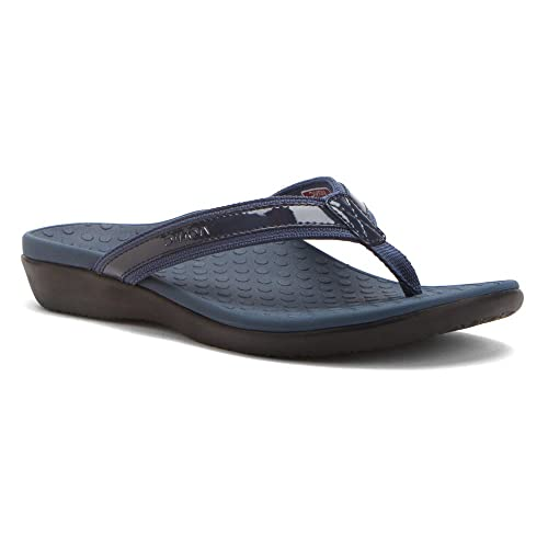 fff1077b4471 Vionic Womens Tide II Orthaheel Thong Sandal Shoe Navy 7 B(M) US  Buy  Online at Low Prices in India - Amazon.in