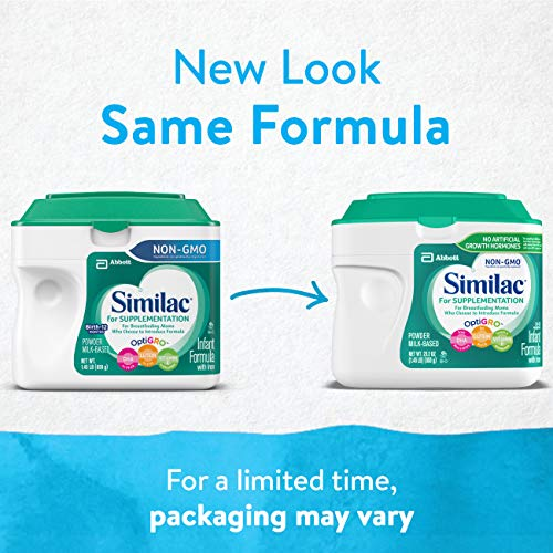 Similac For Supplementation Non-GMO Infant Formula with Iron, Powder, 23.2 Ounces (Pack of 4) by Similac (Image #1)