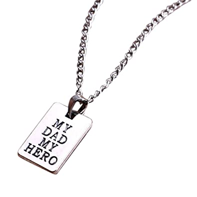 Bodhi2000® DAD MOM Letters Ring Pendant Necklace Mother's/Father's Day Parents Gift wrlUz