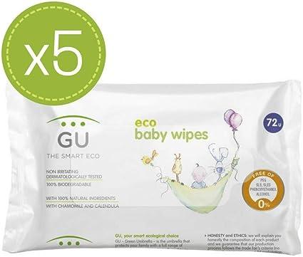 Toallitas ecológicas naturales para bebés - 5 packs: Amazon.es ...