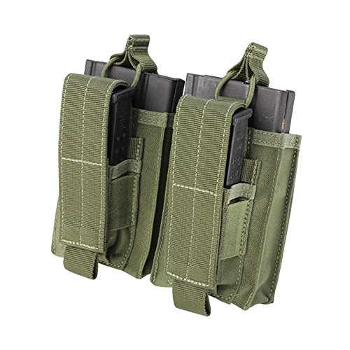[Condor Double Kangaroo Mag Pouch Olive Drab] (Mag Green)