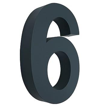 MCTECH® 3D Hausnummer Edelstahl Design Arial beschichtet Hausnummern ...