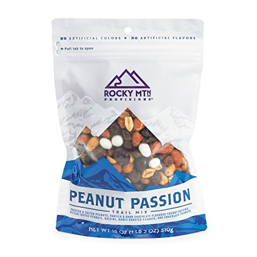 Mix Kosher Gourmet Trail (Rocky MTn Provisions Gourmet Trail Mix, Resealable Bag, No Artificial Flavors: Roasted and Salted Peanuts, Chocolate Flavored Yogurt Rasins, Butter Toffee Peanuts, Chocolate Peanuts 16 oz)