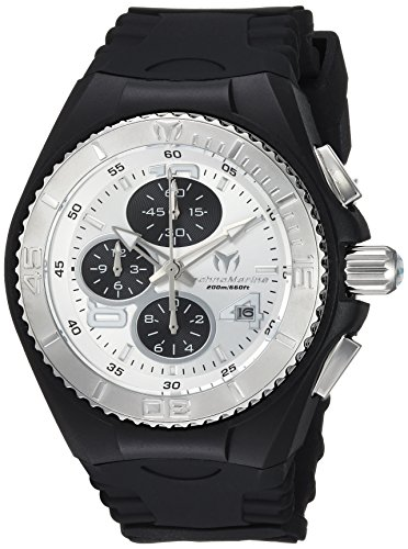 Technomarine Men's 'Cruise' Quartz Stainless Steel and Silicone Casual Watch, Color Black (Model: TM-115269) (Chronograph Technomarine Stainless Steel New)