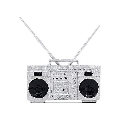 Odoria 1/12 Miniatura Antiguo Radio Decorativo para Casa de Muñecas