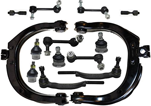 PartsW 14 Piece Kit Control Arms Ball Joints Tie Rod Ends Front & Rear Sway Bar End Links ()
