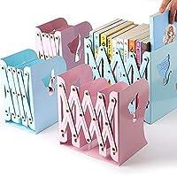 VENIVA Bookcase Desktop Bookend Stand Holder Adjustable Book Rack for Kid Office Book Organizer, Bookshelf Creative Iron…