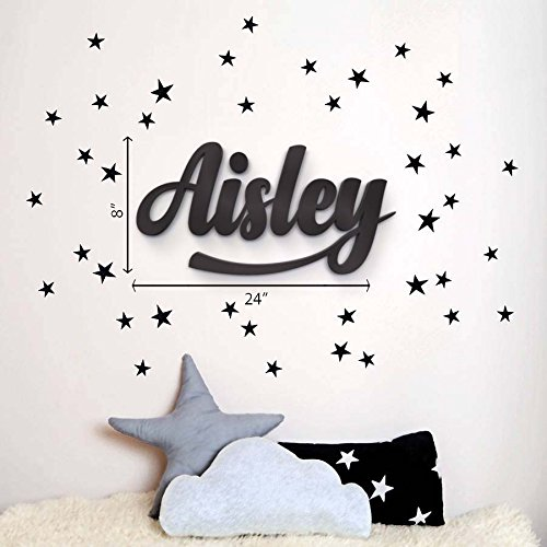 wooden letters - Wooden Hanging Wall Letters - White Decorative Wall Letter for Children's Nursery Baby's Room, Baby Name and Girls Bedroom Decor, Wall Art Baby Names, Nursery Decor