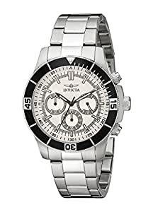 Invicta Men's 12841 Specialty Chronograph Silver Dial Watch