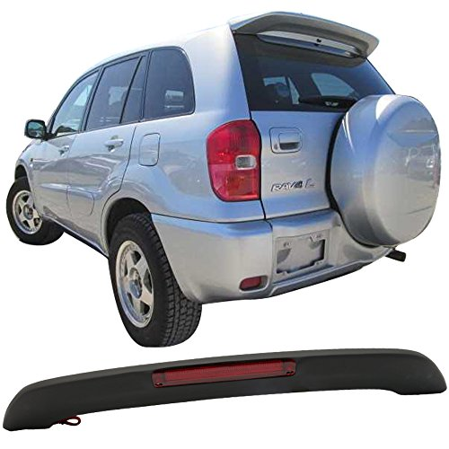 Matte Black! 2001-2005 RAV4 XA20 OE Factory Style Roof Spoiler ABS LED Brake Light Amazon$