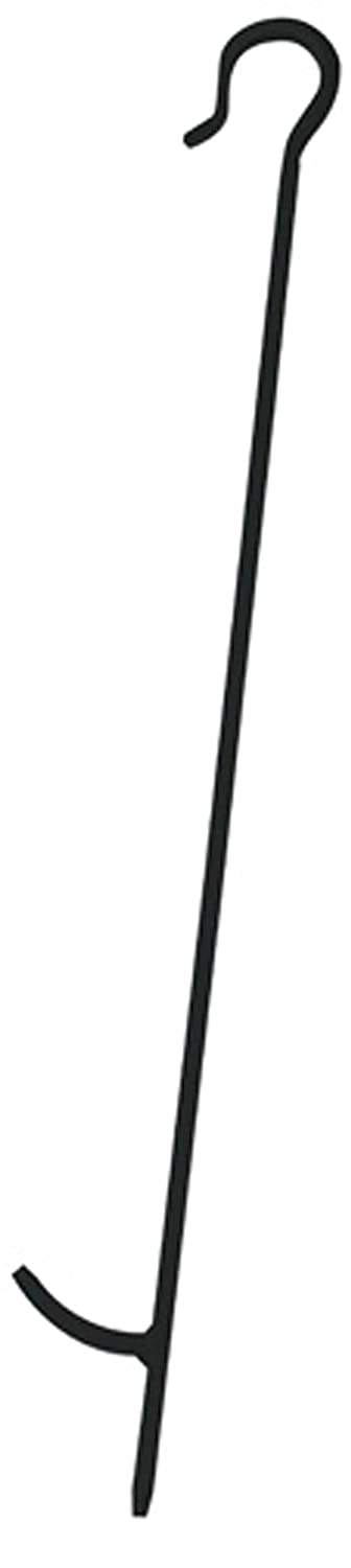 Uniflame, P-1002, 29.5 Black Finish Poker With Crook Handle