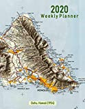 2020 Weekly Planner: Oahu, Hawaii (1954): Vintage Topo Map Cover