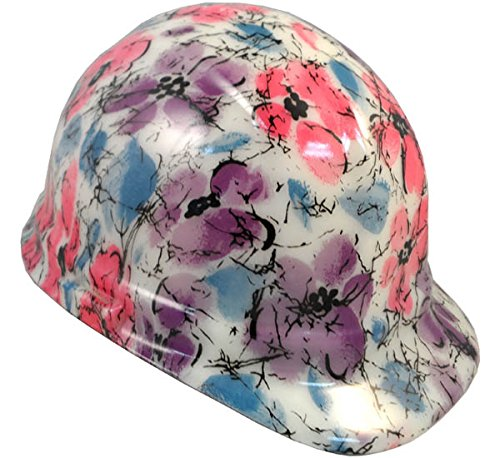 Texas America Safety Company Flower Cap Style Hydro Dipped Hard Hat - Glow in the Dark