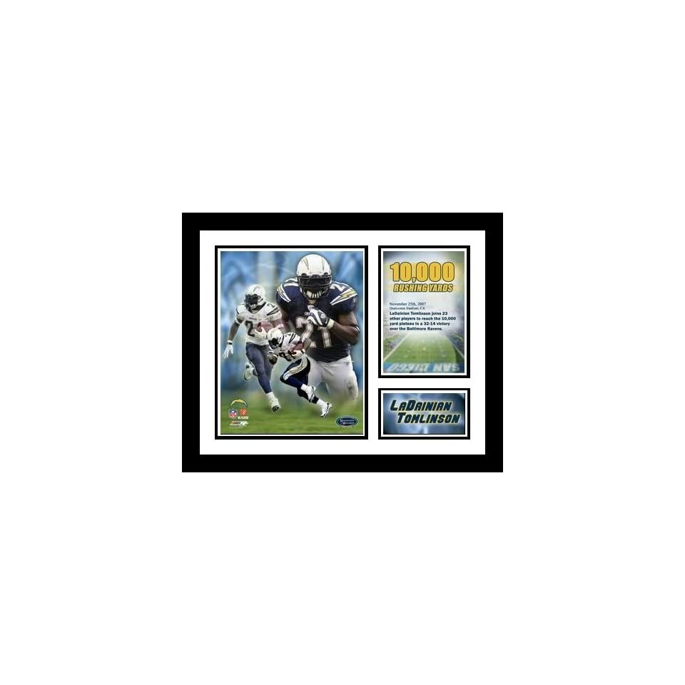 LaDanian Tomlinson San Diego Chargers NFL Framed 10,000 Rushing Yards Milestone Collage