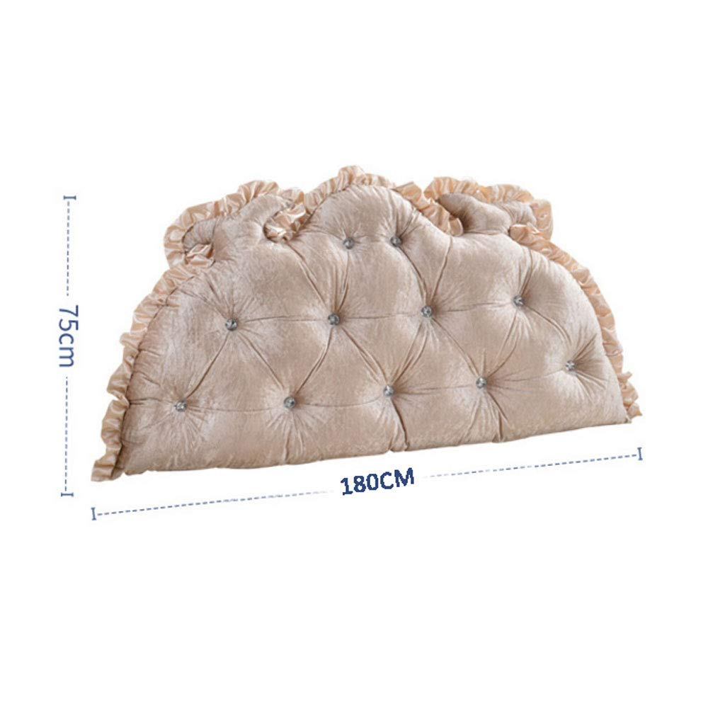 Color : A, Size : 120cm Lazy Pillows European Double Bed Linen Support Bedside Cushion Bed Head Pillow Soft Bag Reading Backrest Headboard Cushion Cushions bedside