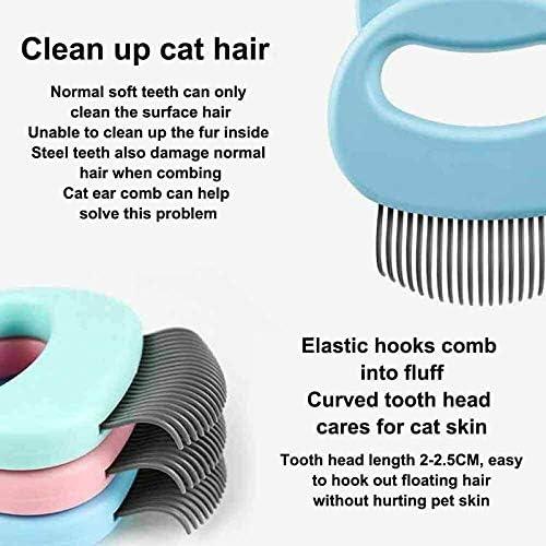 WANGSUN Peigne de massage relaxant pour animal domestique - Brosse de massage portable pour enlever les poils d'animaux domestiques - Accessoire de toilettage adapté pour chats et chiens