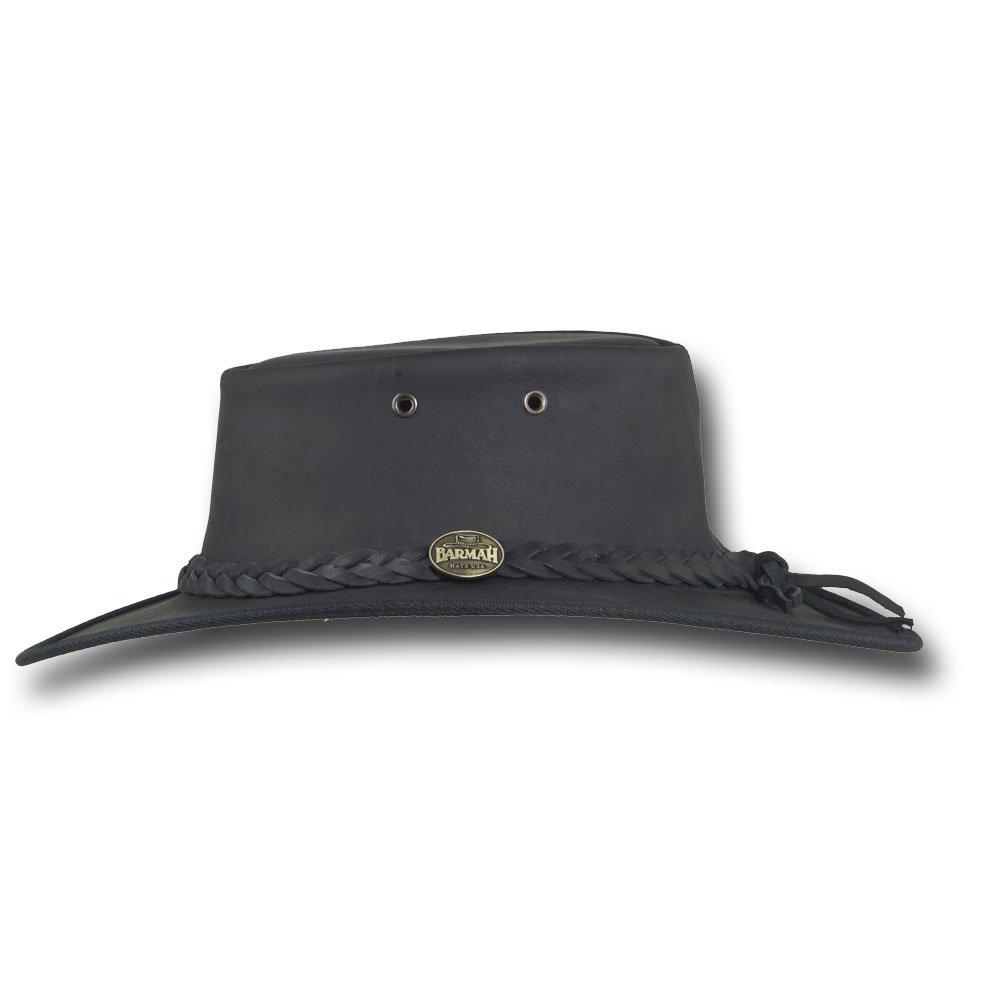 Item 1060 Barmah Hats Foldaway Bronco Leather Hat