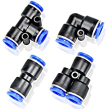 """FIT-PUSHTUBE-TEE-BRANCH-00 BRANCH-1//4/""""x1//4/"""" Tube to 1//4/"""" NPT Male-Air Fittings"""