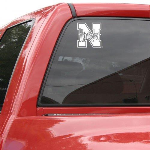 "Nebraska Cornhuskers Die-Cut Decal - 8""x8"" White"