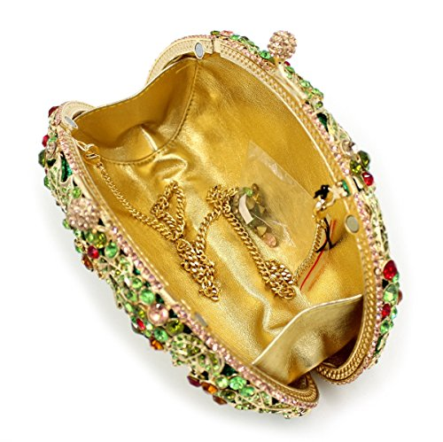 à d'embrayage femme métallique A cadre Sac Fav à sac main soirée Mariage Strass main De Chers sac de Luxe ZxfOwqC
