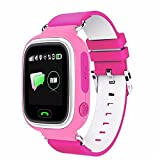 Q90 kids Smartwatch GPS/GSM/GPRS Triple Positioning GPRS Tracker Watch for Kids Children Smart Watch with SOS Support GSM phone Android IOS Anti Lost (PINK)