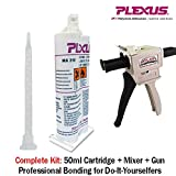 Plexus MA310 All Purpose High Strength MMA Adhesive 50ml/1.7oz cartridge (#31500) w/ Mixing Gun