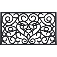 Achim Home Furnishings WRM1830IH6 Iron Heart Rubber Mat, 18 x 30