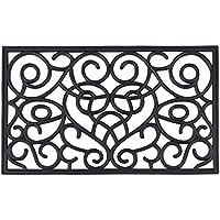 Achim Home Furnishings WRM1830IH6 Iron Heart Rubber Mat, 18 x 30