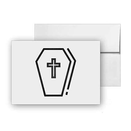 Amazon Com Coffin Burial Funeral Death Dead Blank Card Invitation