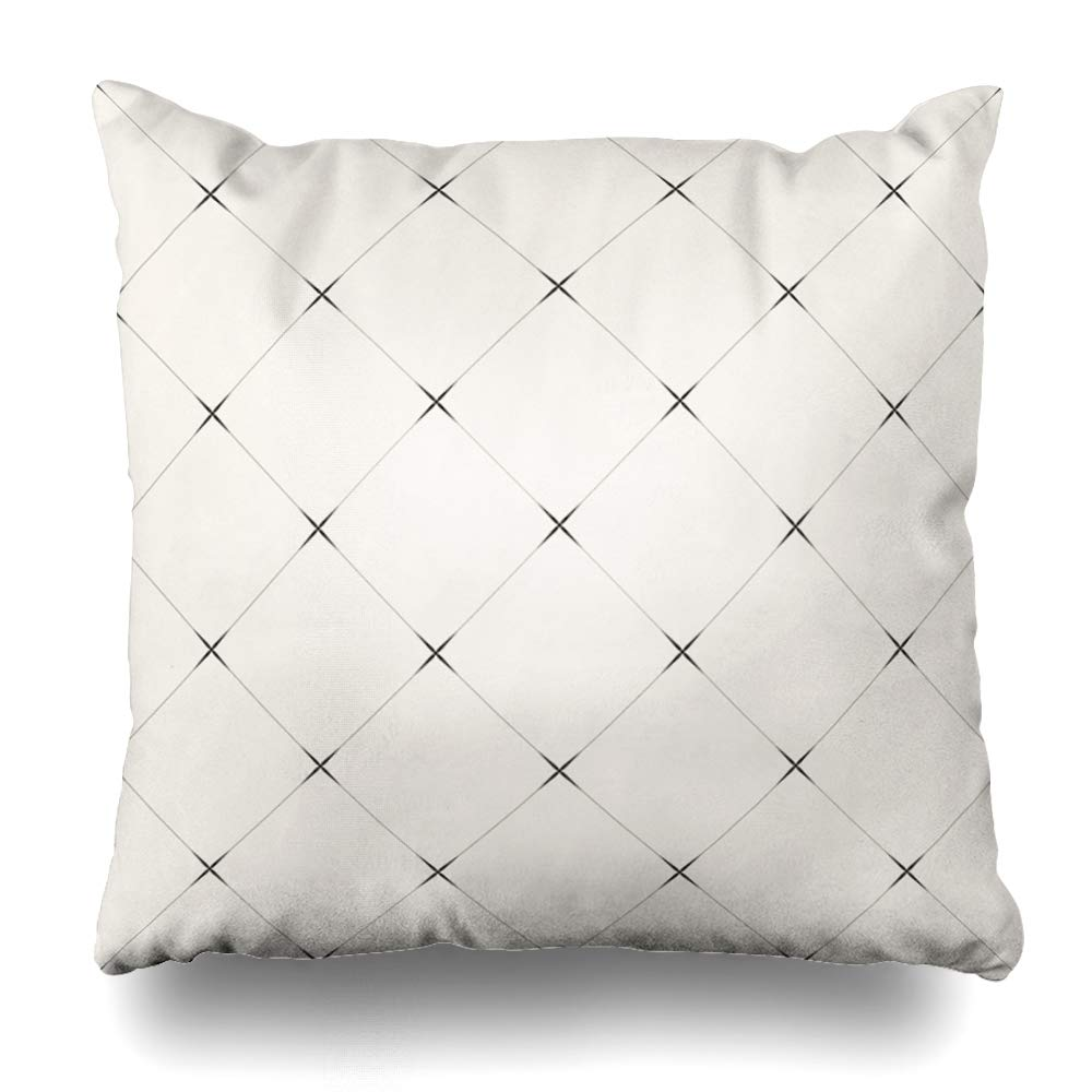 Soopat Decorative Throw Pillow Cover Square Cushion 16X16 Art Artistic Aztec Black White Chevron Ethnic Geometric Indian Arabic Pillowcase Home Decor Kitchen Garden Sofa
