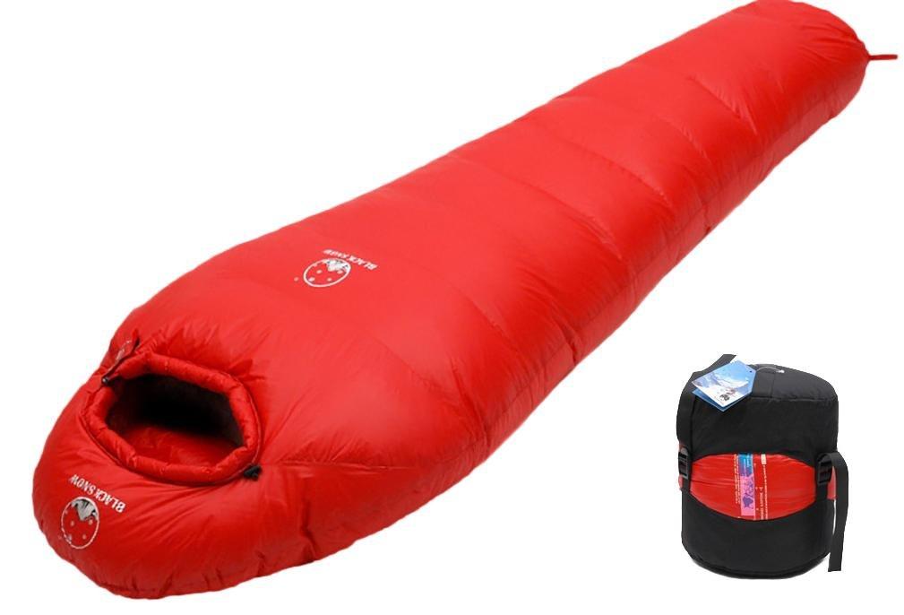 Mummy Goose Down Sleepingバッグアウトドアキャンプ大人用Keep Warm機器Gentle 400 g-1600g B077BSS1SY  レッド 400g