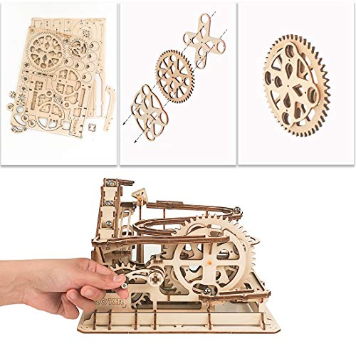 ROKR 3D Wooden Puzzle for Adults Model Kit Marble Run Craft Set Educational Toy Building Engineering Set Christmas…