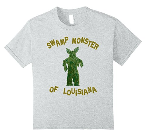 Swamp Creature Costumes (Kids Swamp Monster of Louisiana Shirt Funny Halloween Costume 8 Heather Grey)