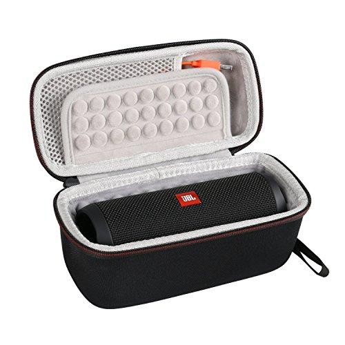 LTGEM Case for JBL Flip 3 or JBL Flip 4 Speaker. Fits USB Cable and Accessories.