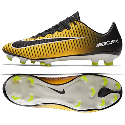 Nike Mercurial Vapor Orange - Nike Mercurial Vapor XI FG 831958-801 Laser Orange/White/Black Men's Soccer Cleats (8)