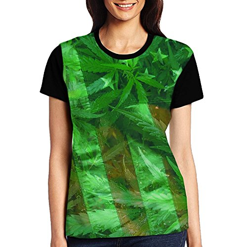 Womens Fashion Cannabis Leaf Funny Tennessee Raglan Short Sleeve Vintage T Shirt