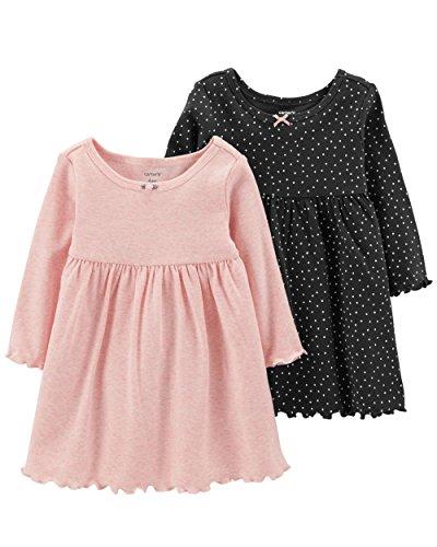 Carter's Baby Girls' 2 PK 121h237 (Newborn, Pink/Polka Dot)