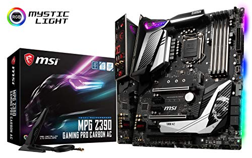 MSI MPG Z390 Gaming PRO Carbon AC LGA1151 (Intel 8th and 9th Gen) M.2 USB 3.1 Gen 2 DDR4 HDMI DP Wi-Fi SLI CFX ATX Z390 Gaming Motherboard ()