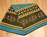 Mission Del Rey Southwestern Fleece Lodge Blanket 60''x80'' Yoga, Camping, Picnics, Sports & Rustic Home Decor (Turquoise)