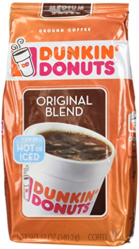 Dunkin Donuts Original Blend 12 OZ Ground Coffee (Pack of 2)