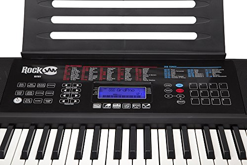 RockJam RJ761-SK Key Electronic Interactive Teaching Piano Keyboard with Stand, Stool, Sustain pedal & Headphones - Image 3