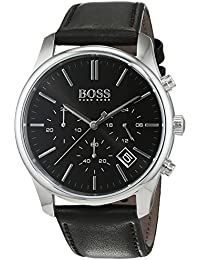 Mens 1513430 Silver Leather Quartz Watch