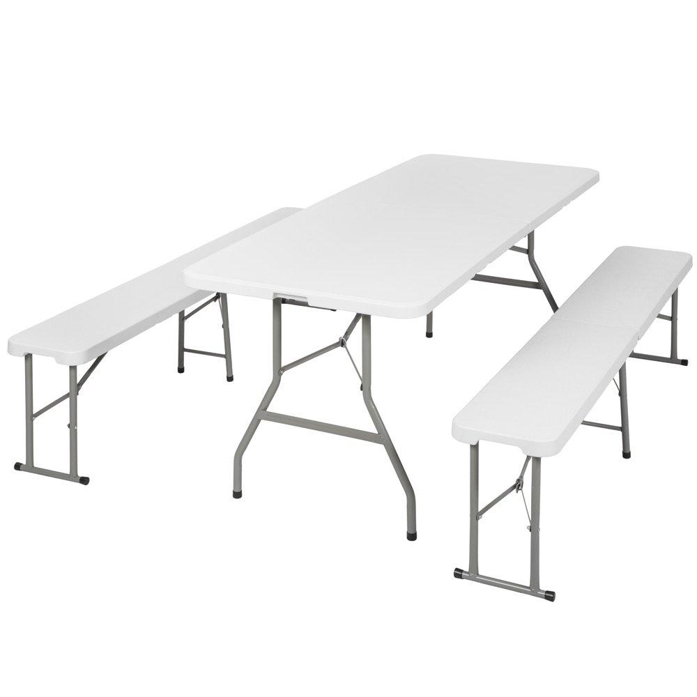 TecTake Set Tisch und Bänke klappbar Campingmöbel Picknick - in verschiedenen Farben erhältlich -