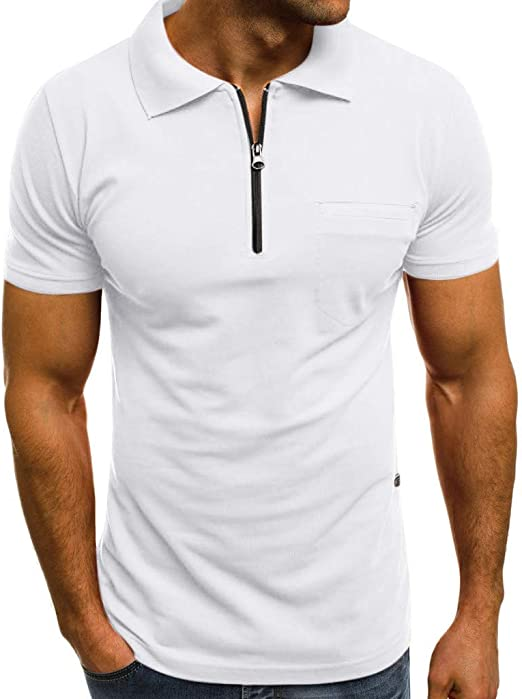 Mens Tops Male Office Long Sleeve Fashion T shirts Lapel Collar Blouse Basic tee